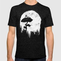 Midnight Spirits Mens Fitted Tee Tri-Black SMALL
