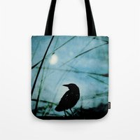 The Raven And The Orb Tote Bag