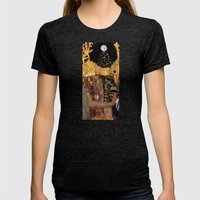 Klimt´s Judy Collage 2 Womens Fitted Tee Tri-Black SMALL