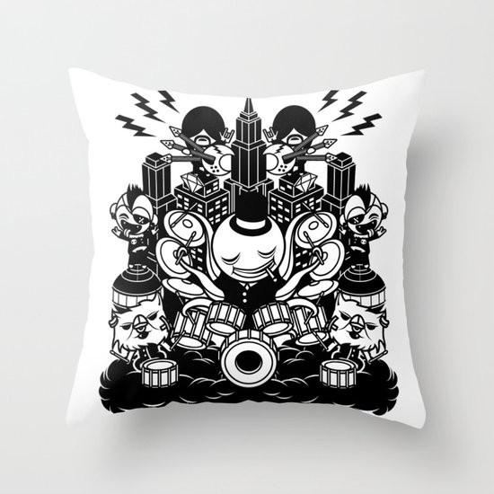 Octopus Drummer 2010 Throw Pillow