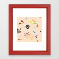 Pirates Of The Candibbea… Framed Art Print