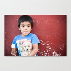 Helado y Chuchito Canvas Print