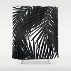 Palms Black Shower Curtain