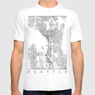T-shirt featuring Seattle Schwarzplan by City Map Art