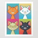Pop Cats Art Print