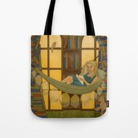 Reading Forest Tote Bag