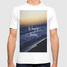 The Sound of Sunshine White Mens Fitted Tee SMALL