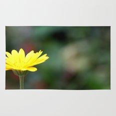 yellow flower. Rug
