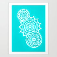 The Blue Mandalas Art Print