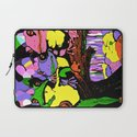 Frog Family and Rainbow Waterfall Abstract 2 Laptop Sleeve