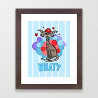 Cool Cat in a Red Hat Framed Art Print
