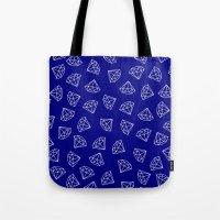 Navy Blue Diamond Pattern Tote Bag