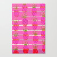 Pink Pineapples Canvas Print