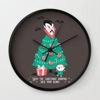 Return of the Christmas Vampire Wall Clock