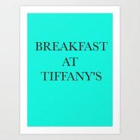 Breakfast At.. Art Print
