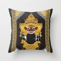 Barong Throw Pillow
