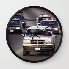 OJ Simpson Car Chase Wall Clock