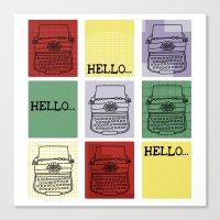 Classic Typewriter Canvas Print