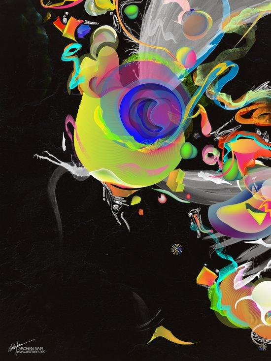 Colliding Nebulas Art Print