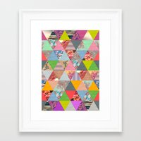 Framed Art Print featuring Lost in ▲ by Bianca Green
