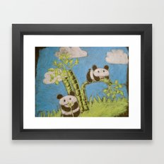 Cute Pandas Framed Art Print