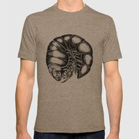 Screaming Centipede Mens Fitted Tee Tri-Coffee SMALL