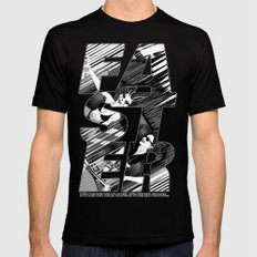 Faster II Mens Fitted Tee Black SMALL