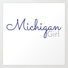 Michigan Girl Art Print