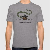 Pirate Ribosome Mens Fitted Tee Athletic Grey SMALL