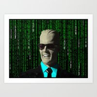 Max Meets Matrix Art Print