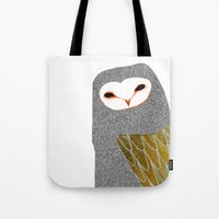 Barn owl, owl art, owl illustration, owls, nature, animal art,  Tote Bag