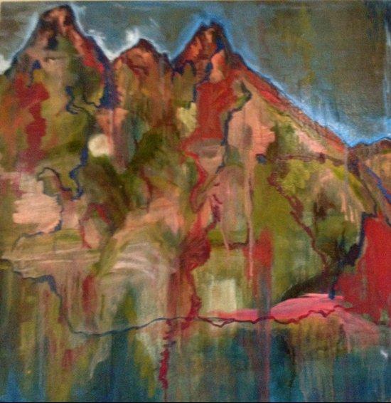 Mountaintop Blues Art Print