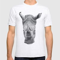 Rhino Mens Fitted Tee Ash Grey SMALL