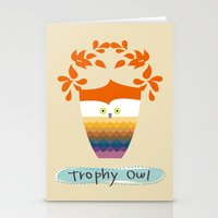 Trophy Owl Stationery Cards
