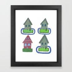 Utopians, Suburbia Framed Art Print