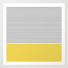 MINIMAL Green Stripes Art Print