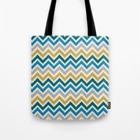 Chevron 3 Tote Bag
