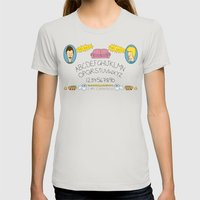 Beavis And Ouija Board Womens Fitted Tee Silver SMALL