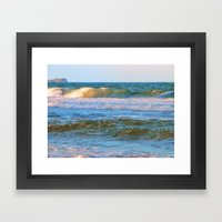 Rolling wave and headland Framed Art Print