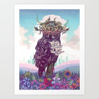 Journeying Spirit (Owl) Art Print