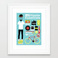 Hipster Essentials Framed Art Print