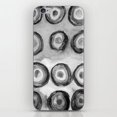 Bullseye black white iPhone & iPod Skin