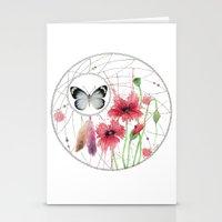 Dreamcatcher No. 2 - Butterfly Illustration Stationery Cards