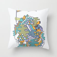 Huzzah! Throw Pillow