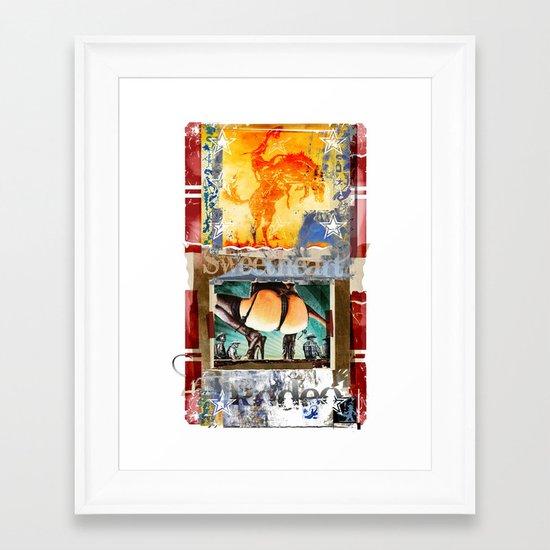 SWEETHEART OF THE RODEO #3 Framed Art Print