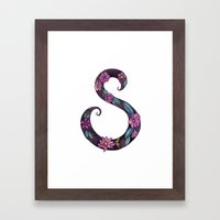 Floral S Framed Art Print
