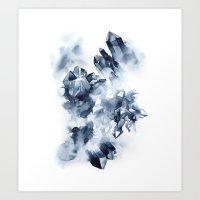 Smokey Crystals Art Print