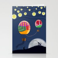 BALLOON NIGHT Stationery Cards