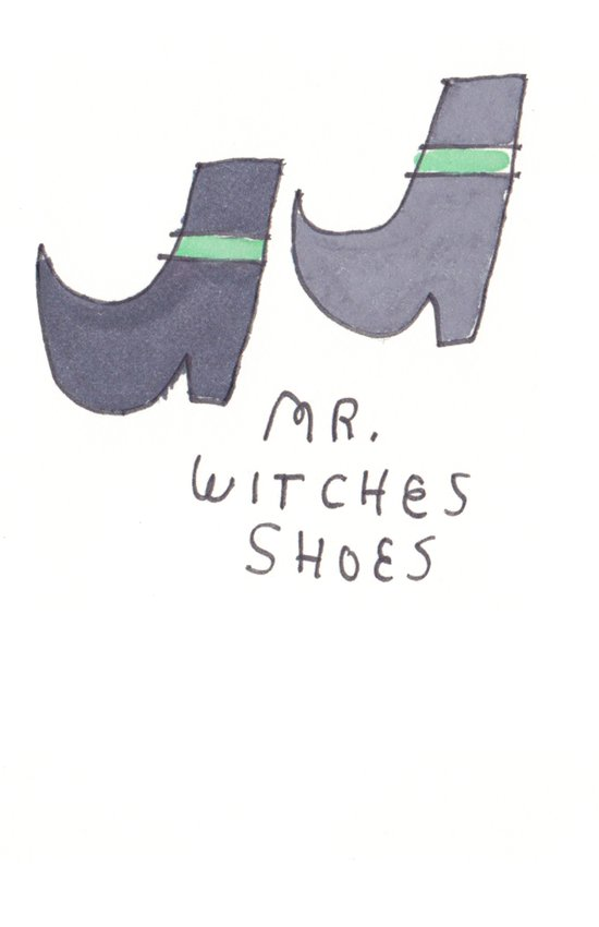 MR WITCHES SHOES. Art Print