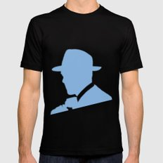 Ghosts Black SMALL Mens Fitted Tee